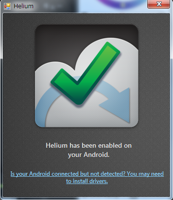 helium接続完了
