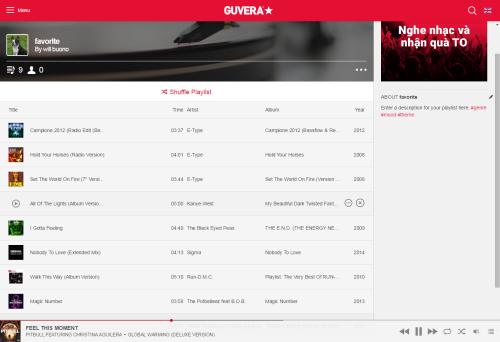 guvera my playlist